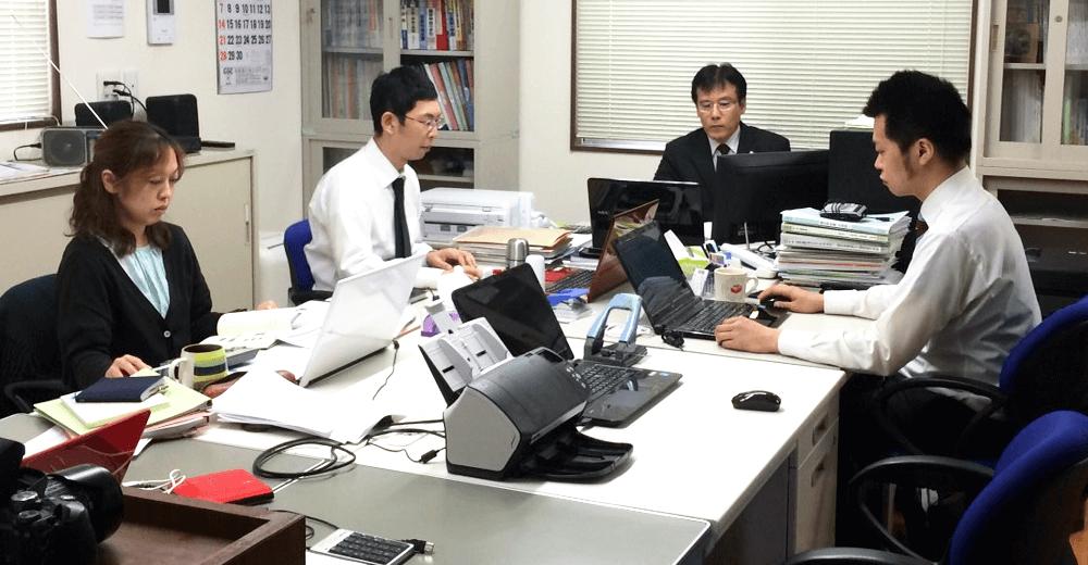 宮崎一博税理士事務所の仕事風景